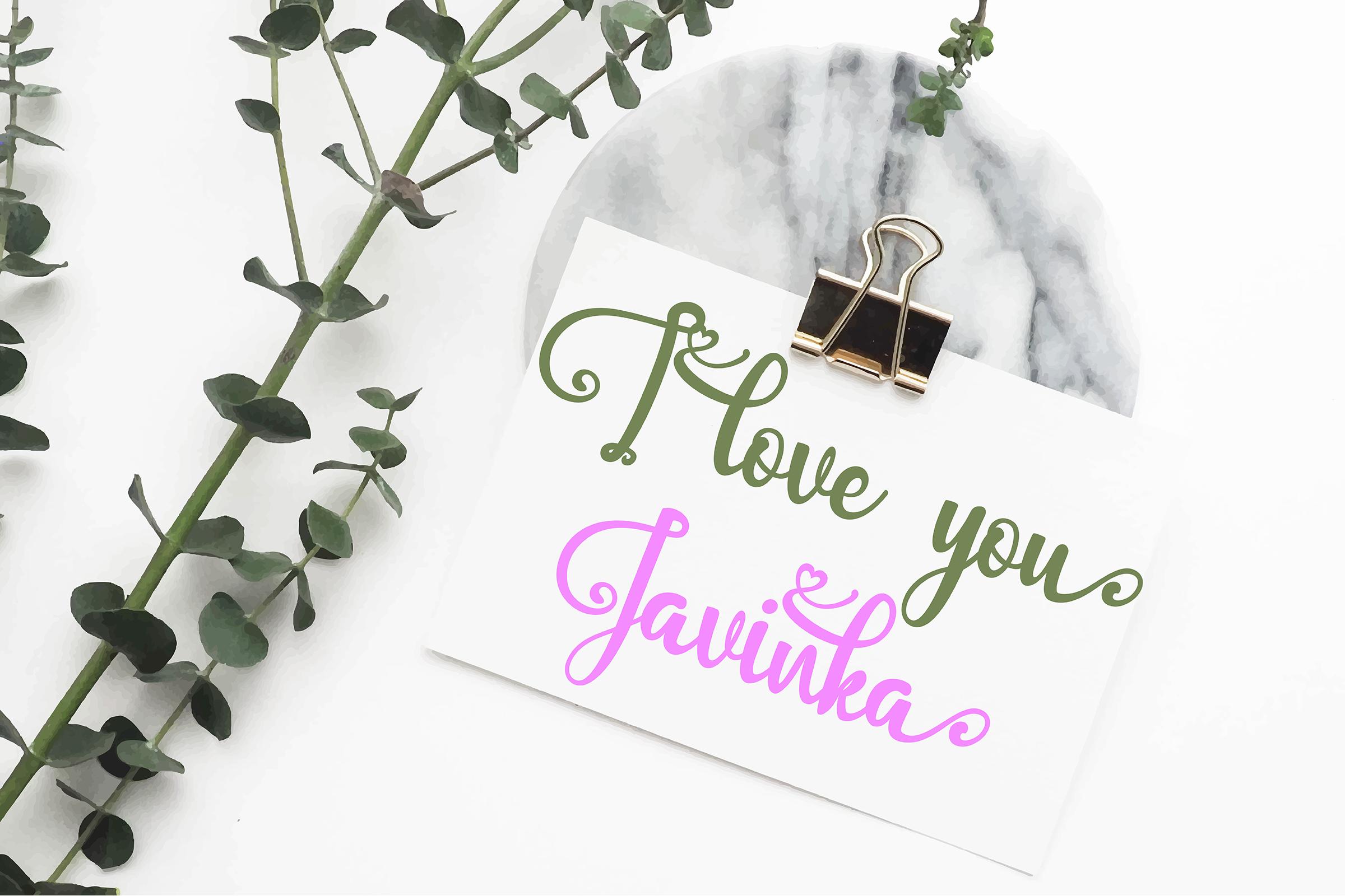 Javinka font example image 8
