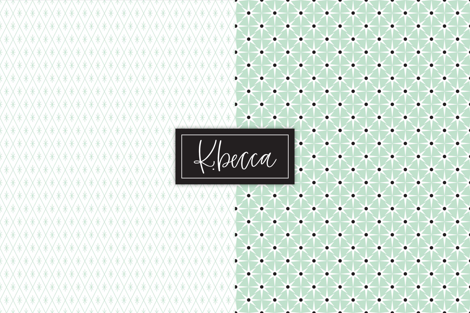 Retro 1950s Background Patterns Seamless example image 3