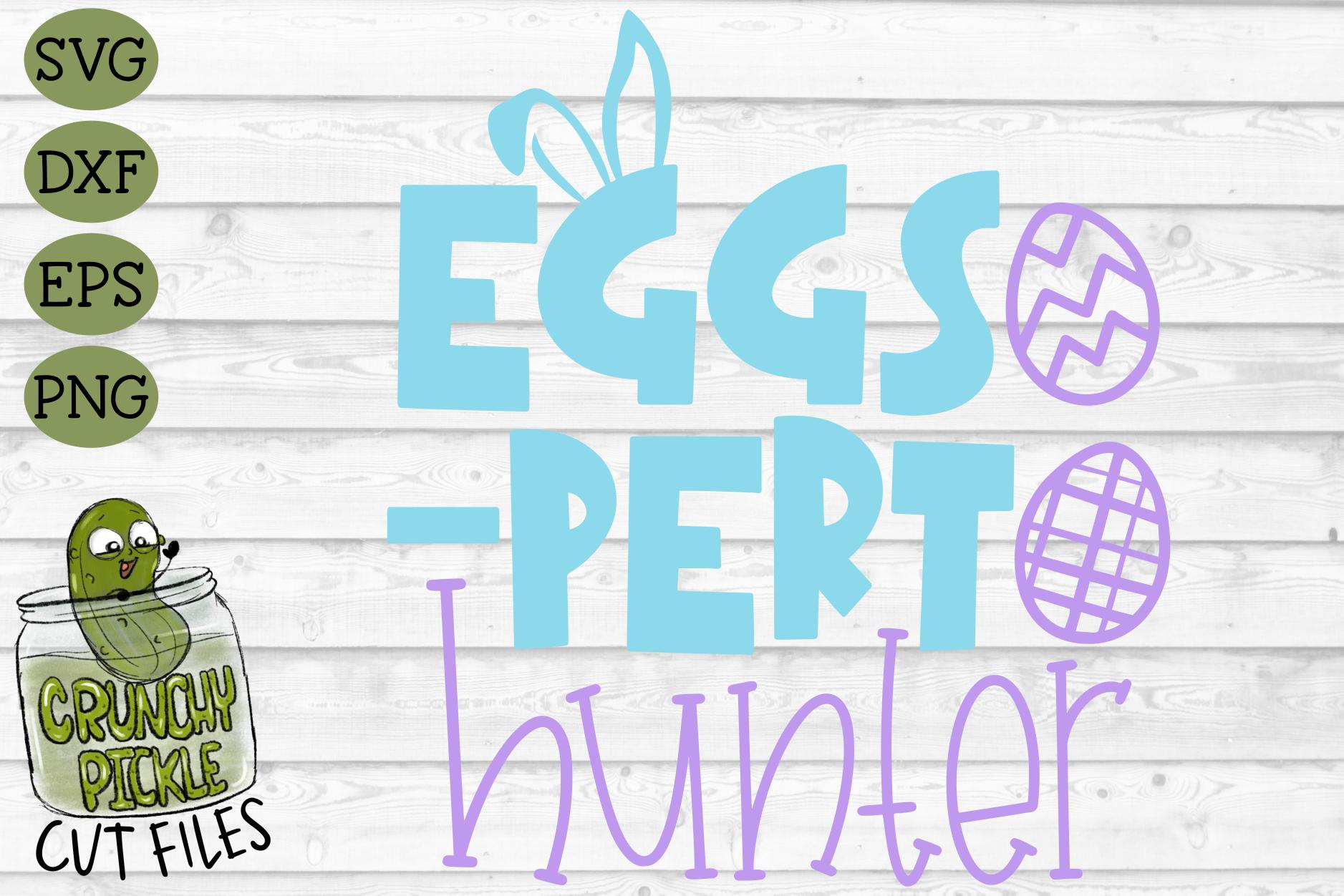 Eggs-Pert Hunter Easter Egg Hunt Spring SVG Cut File example image 2