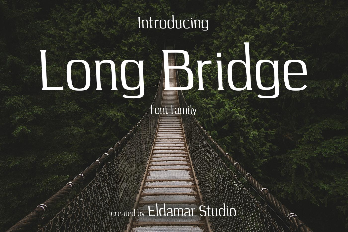 Long Bridge Font example image 1