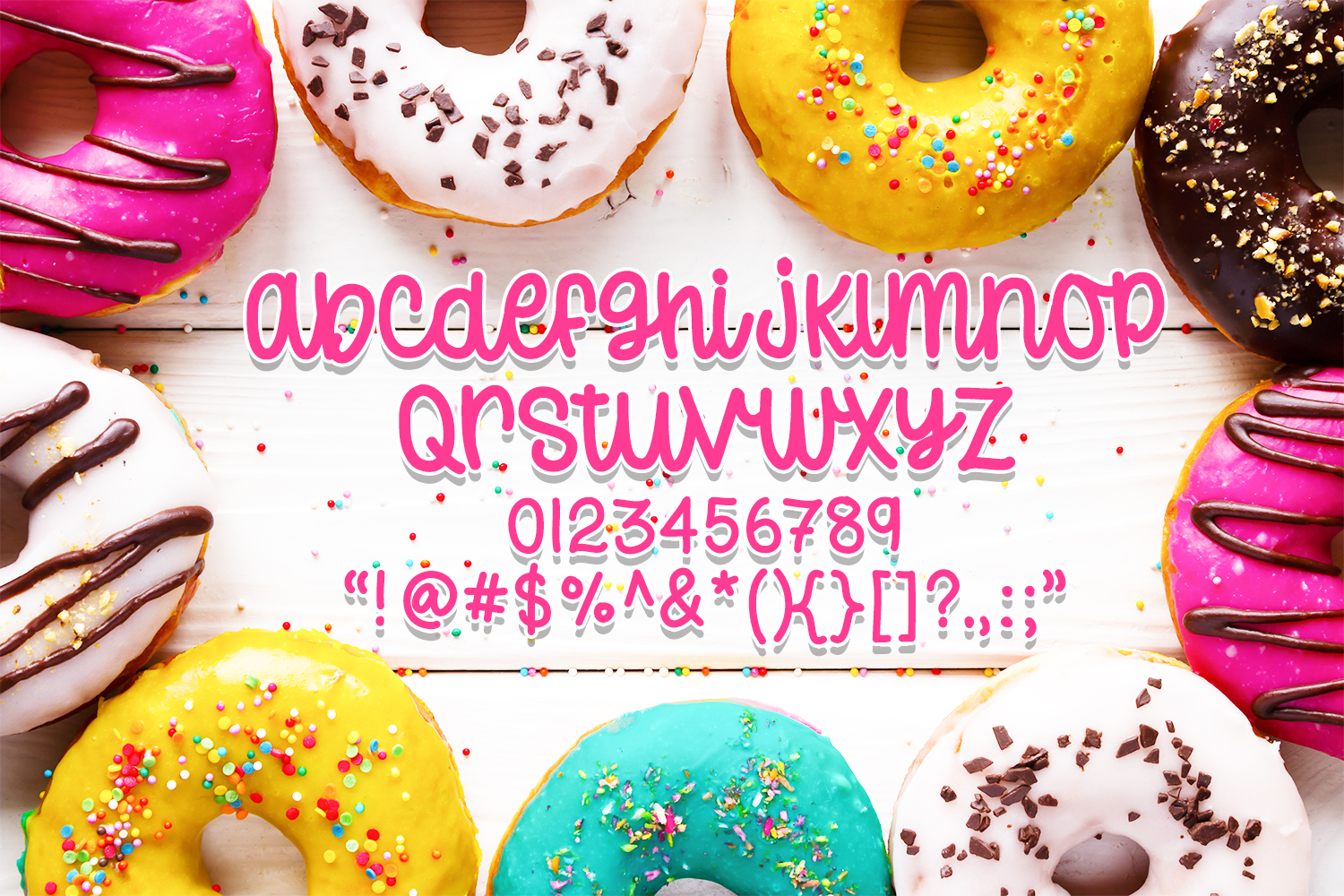 Donut Worry - Hand lettered crafting font example image 8