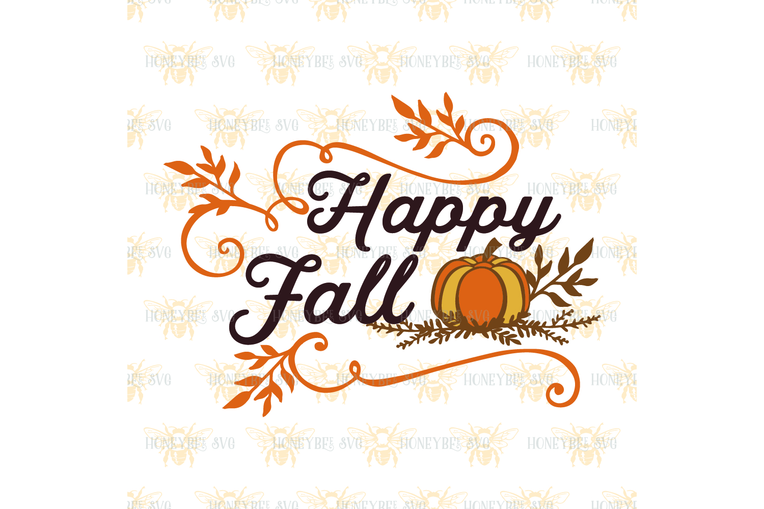 Happy Fall Pumpkin svg example image 2