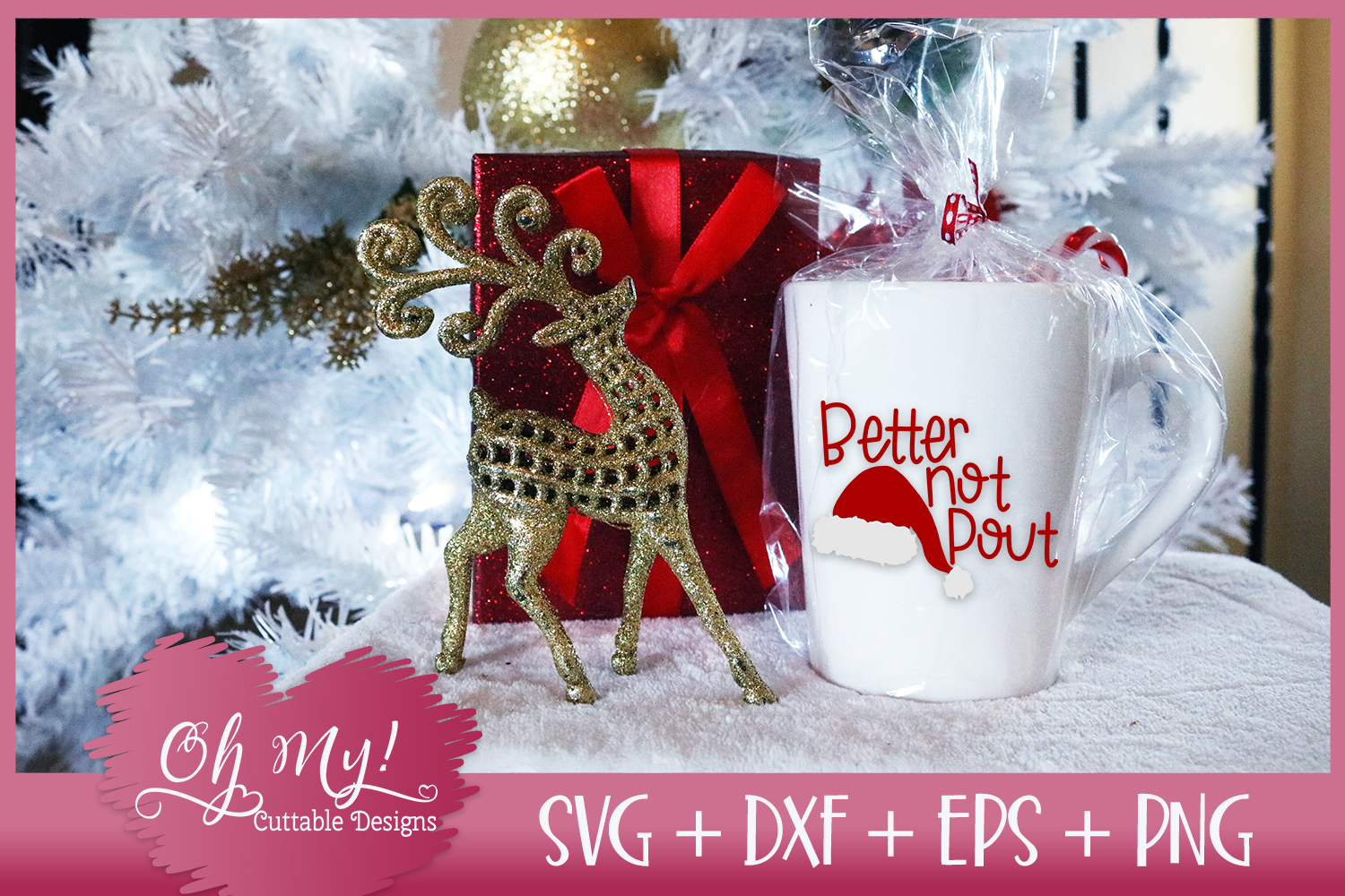 Better Not Pout - SVG EPS DXF PNG Cutting File example image 2