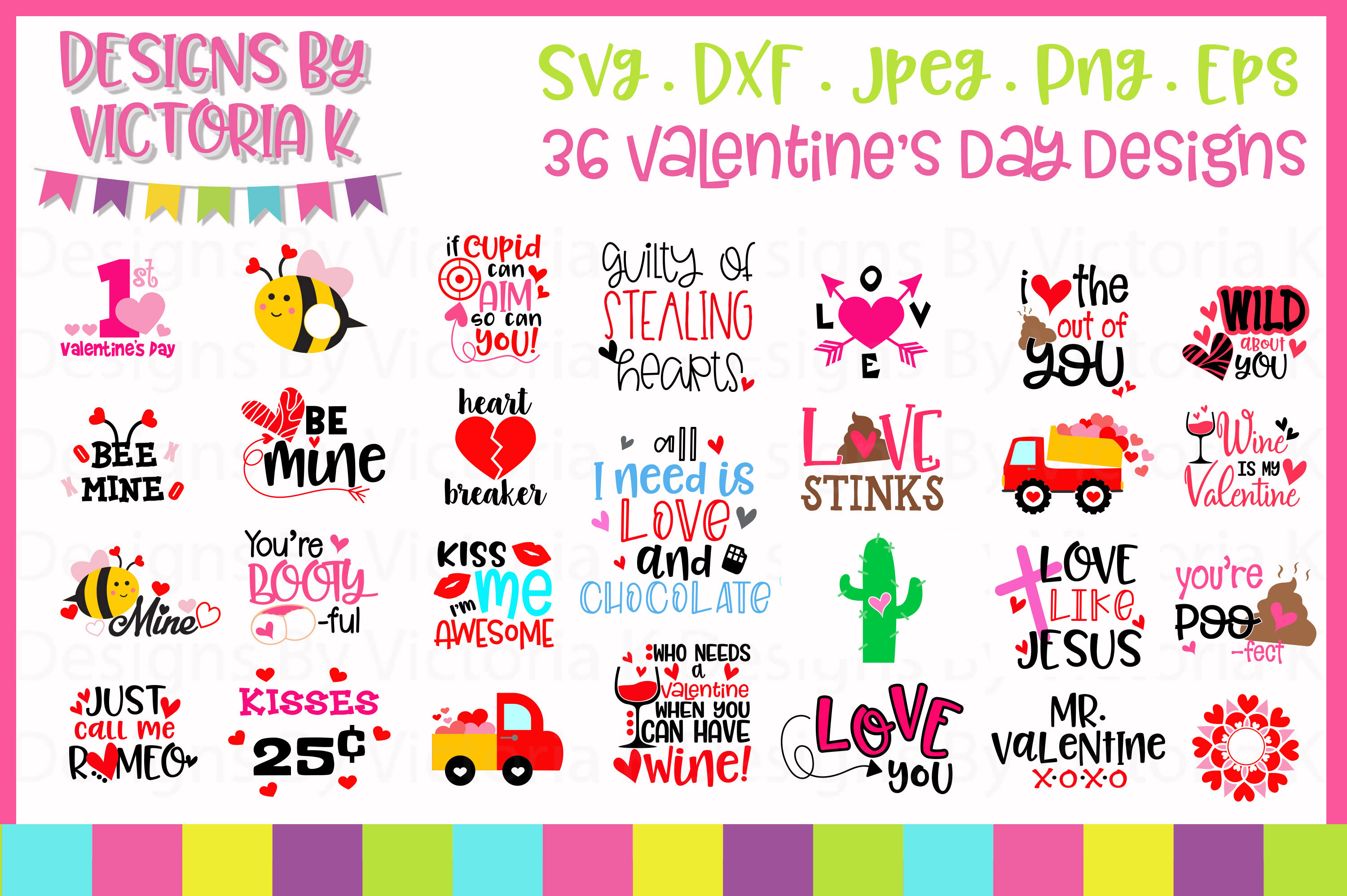 Valentine's Day SVG Cut Files example image 1
