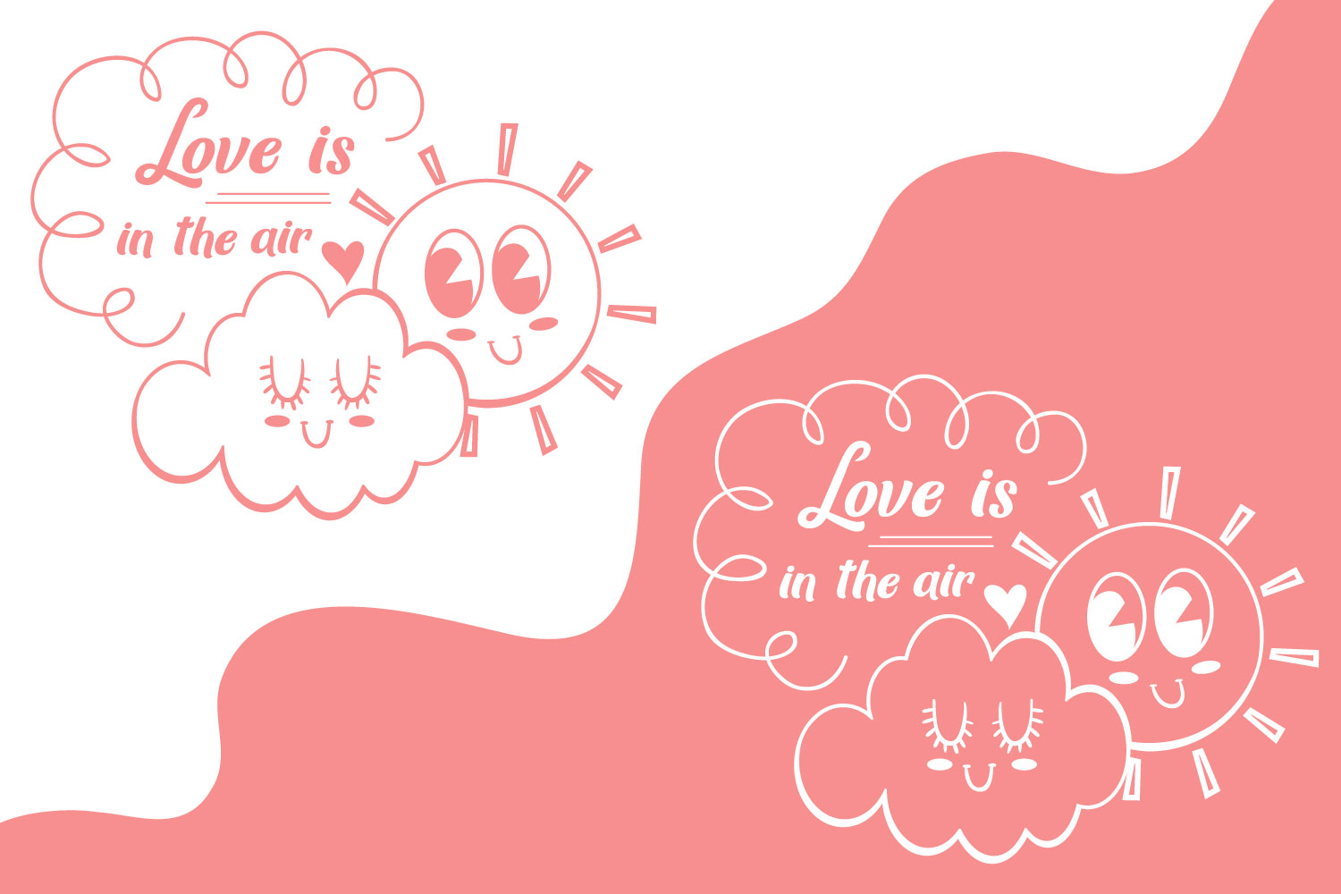 Love is in the air - Valentine SVG cut file example image 2