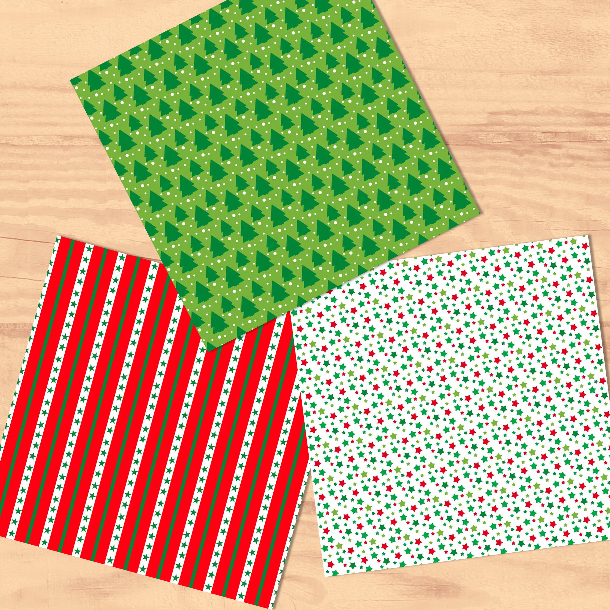 Bright Christmas 12 Tileable Digital Papers example image 3