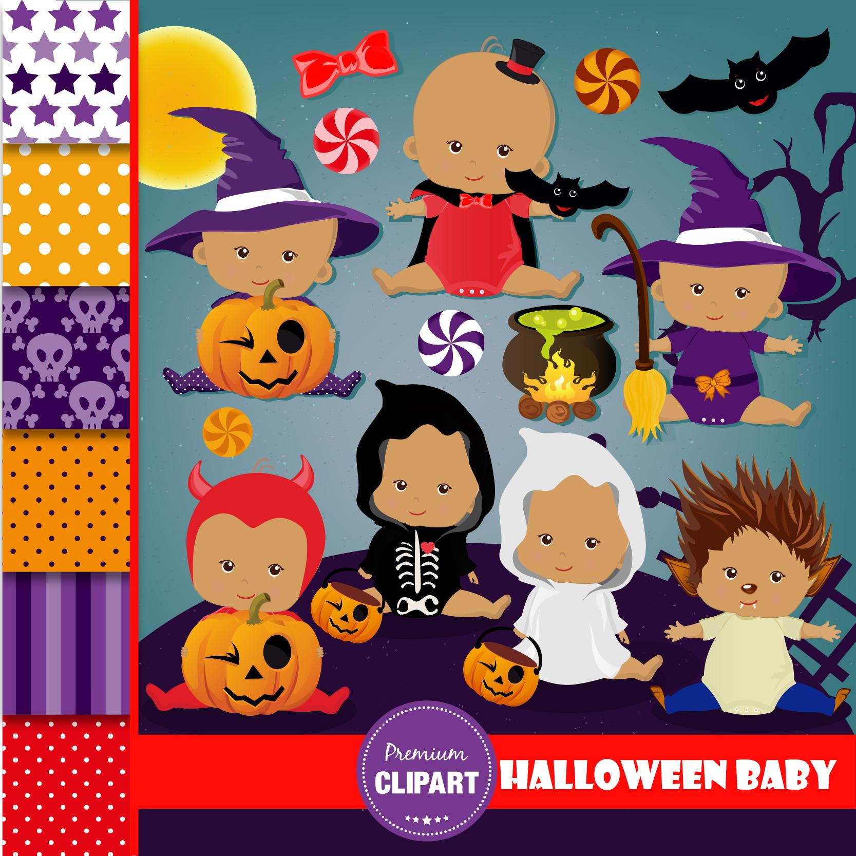 Halloween bundle, Halloween illustrations example image 14