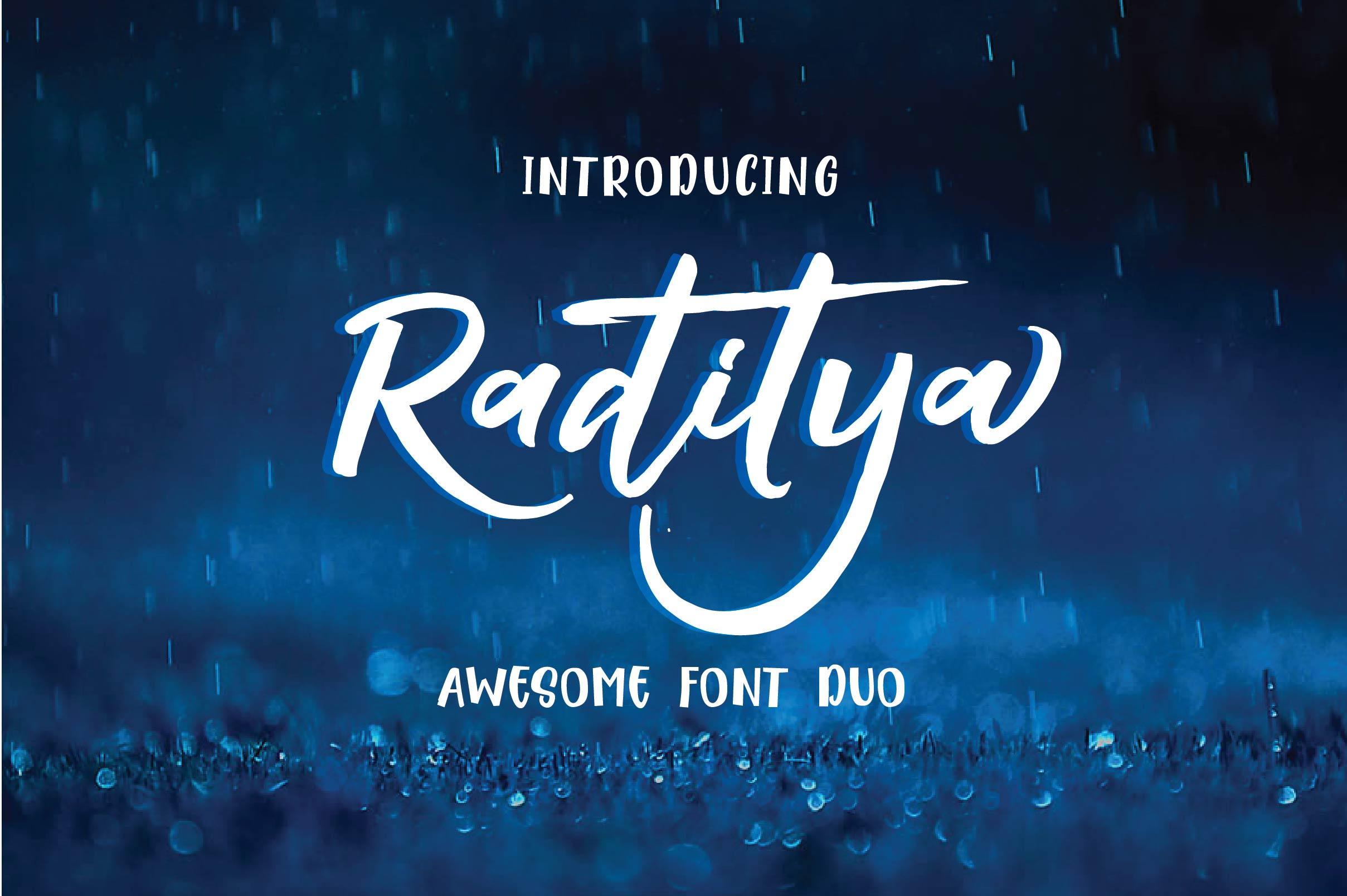 RADITYA Hand lettering example image 1