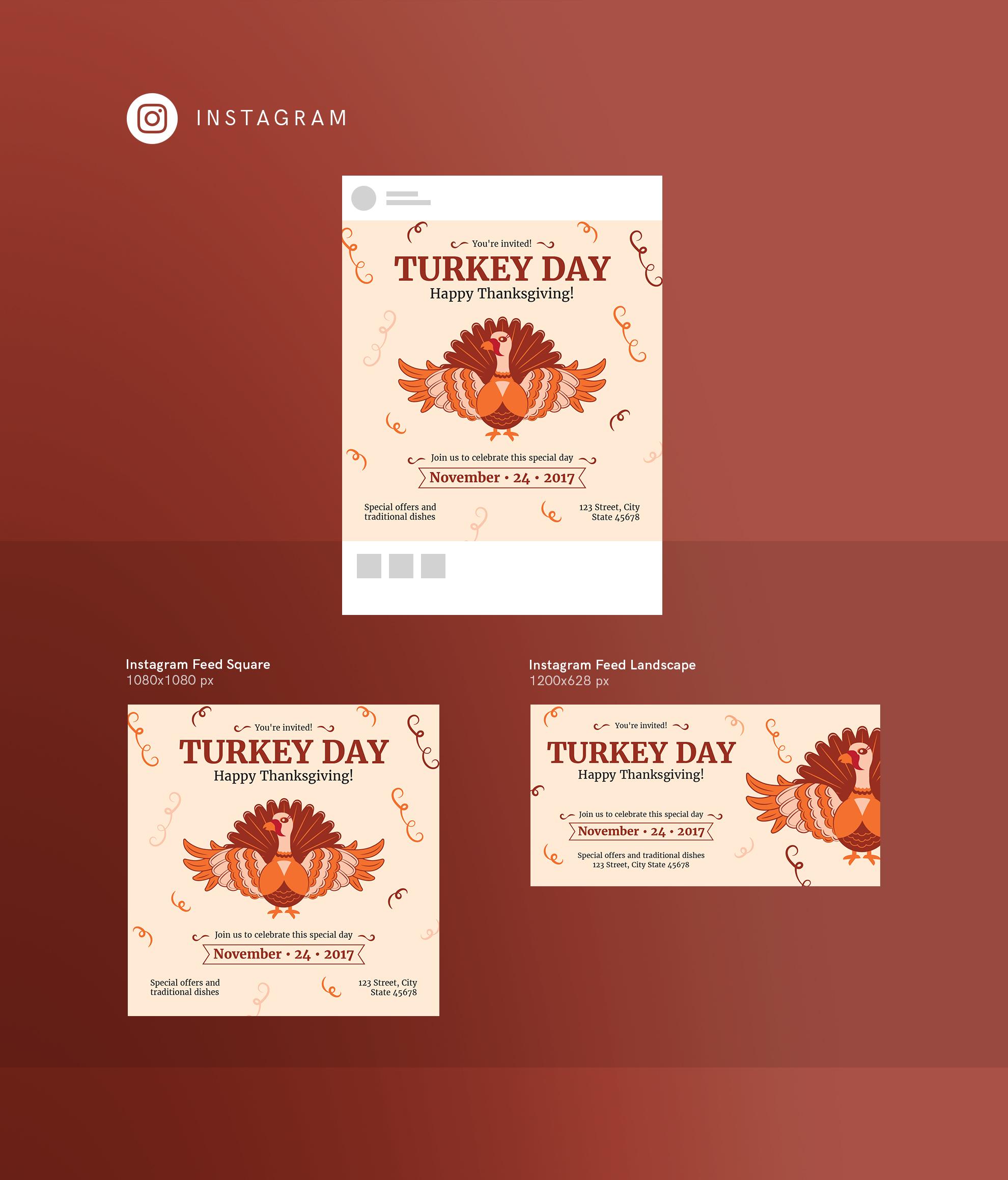 Thanksgiving Celebration Design Templates Bundle example image 15