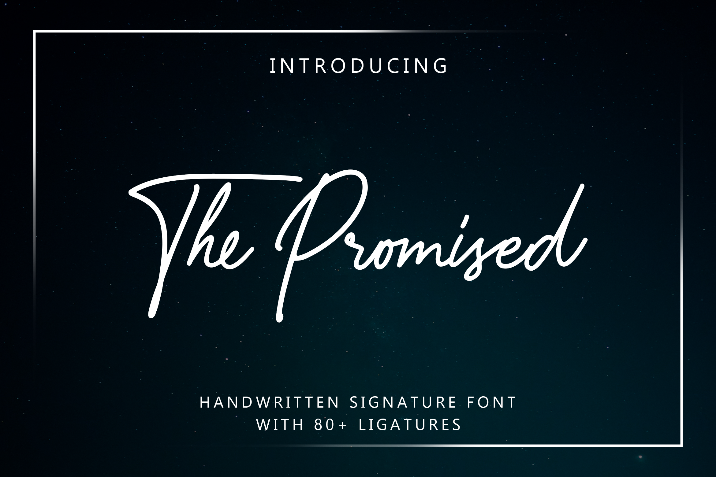 The Promised Signature Font example image 1