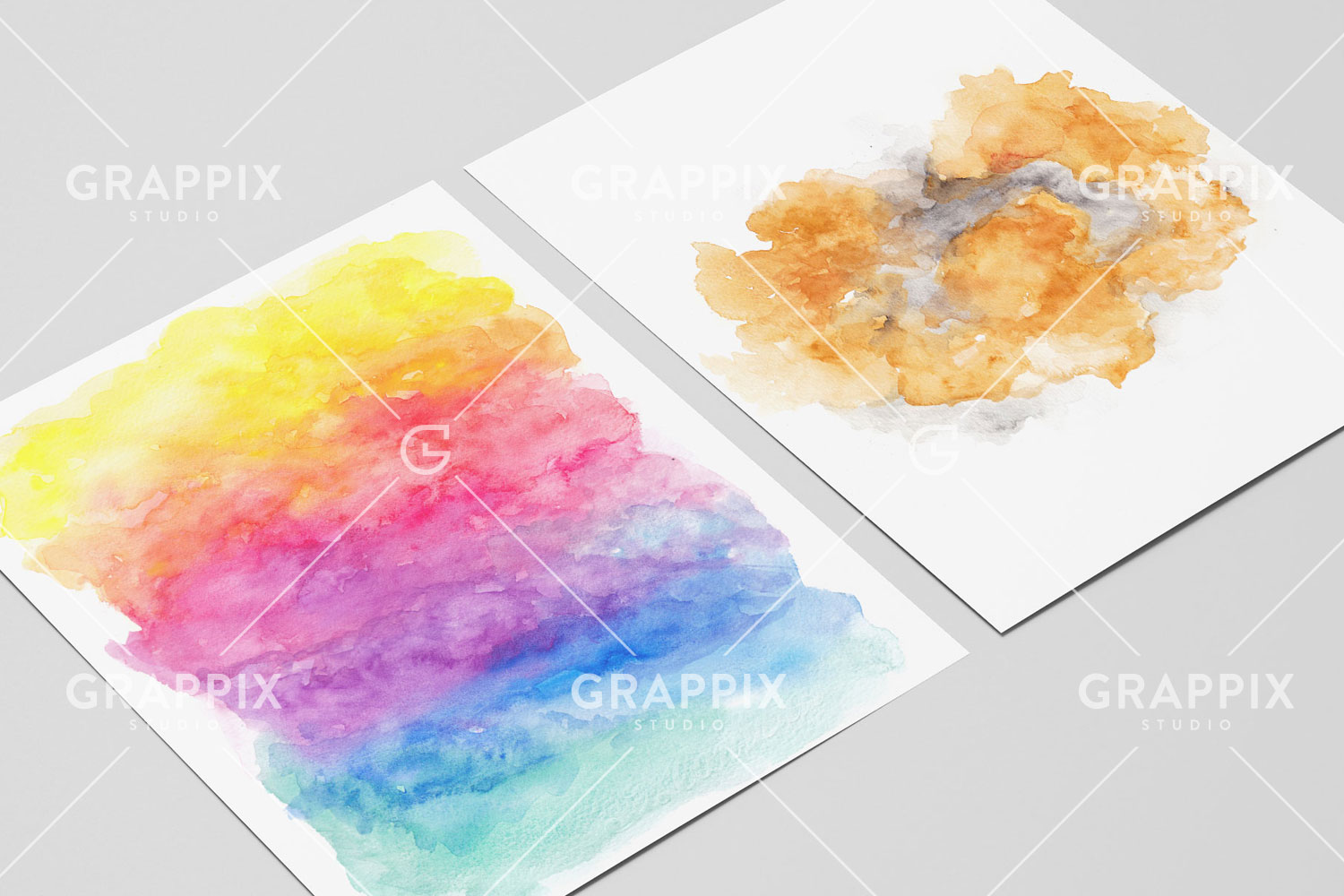14 Abstract Colorful Watercolor Backgrounds example image 2