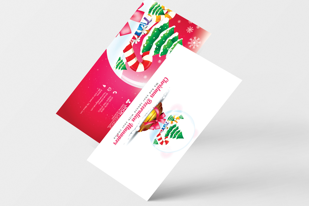Christmas Decorator's Business Card example image 4