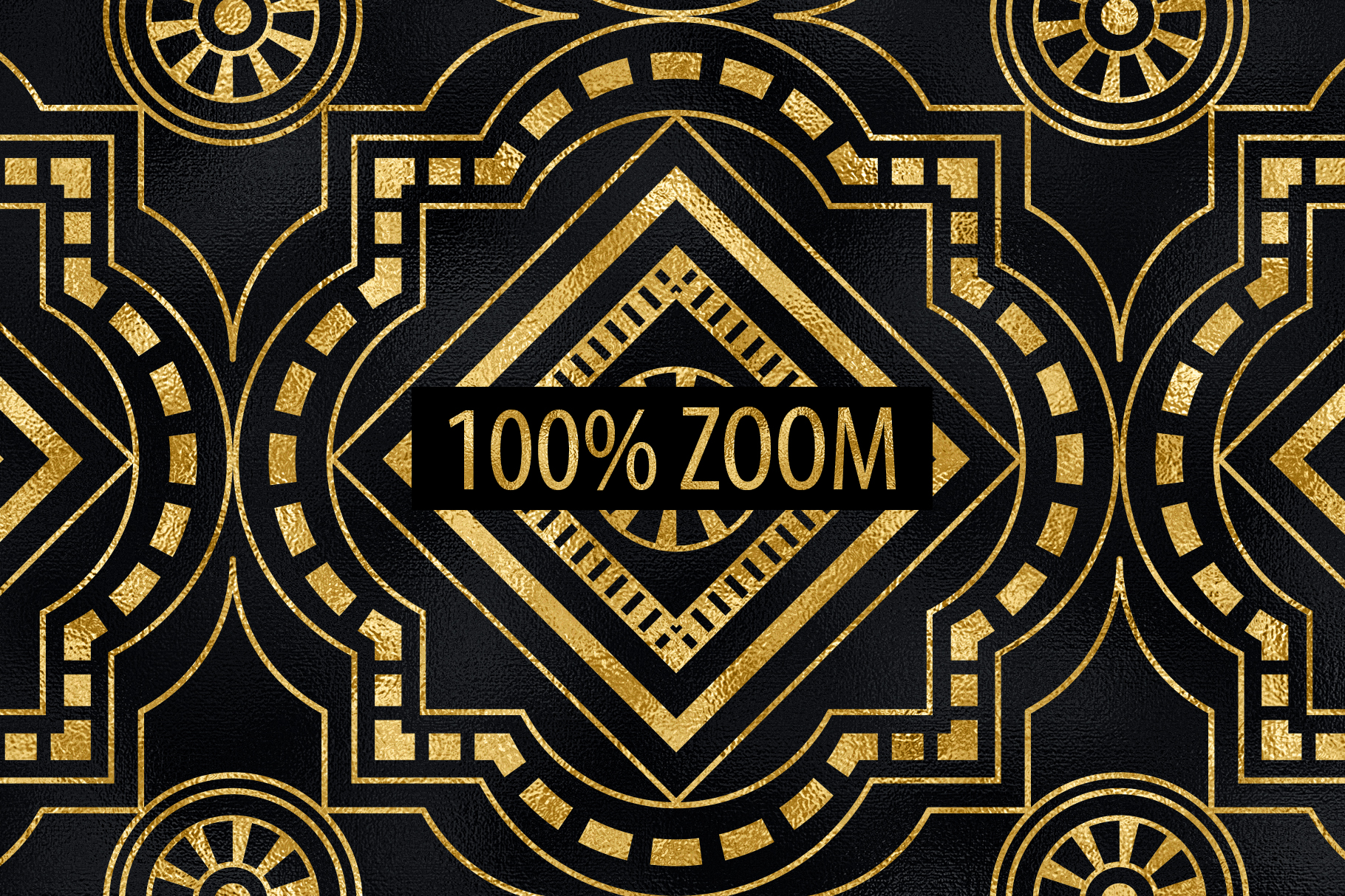 Seamless Art Deco Patterns - Black and Gold Digital Papers example image 10