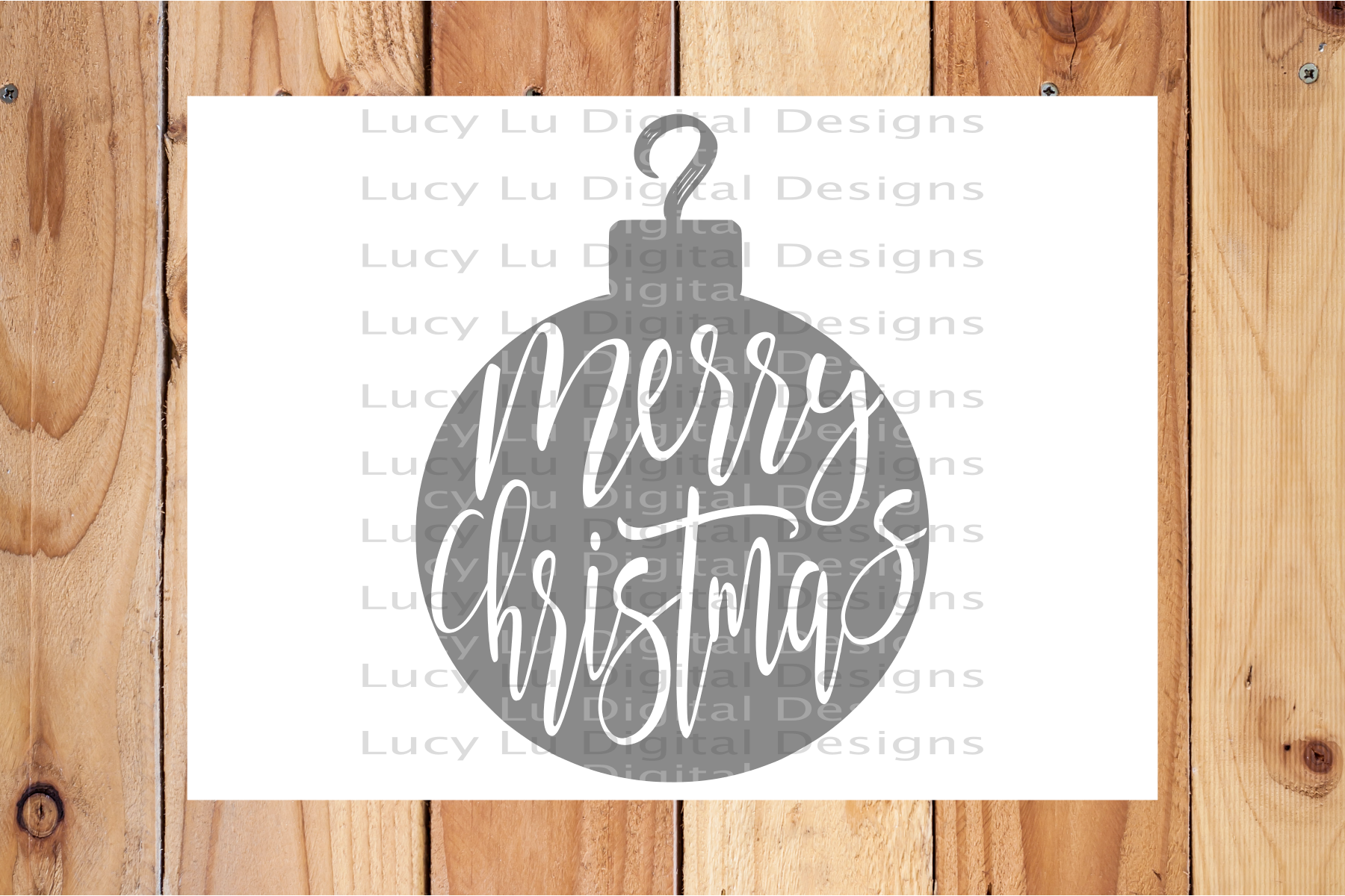 Merry Christmas Ornament example image 2