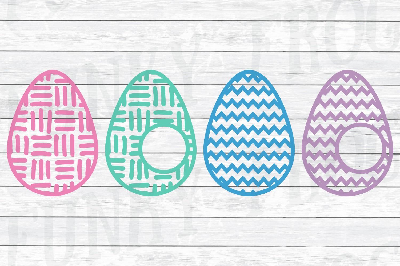 Easter Monogram Frame Bundle - Egg and Bunny SVG Cut Files example image 5