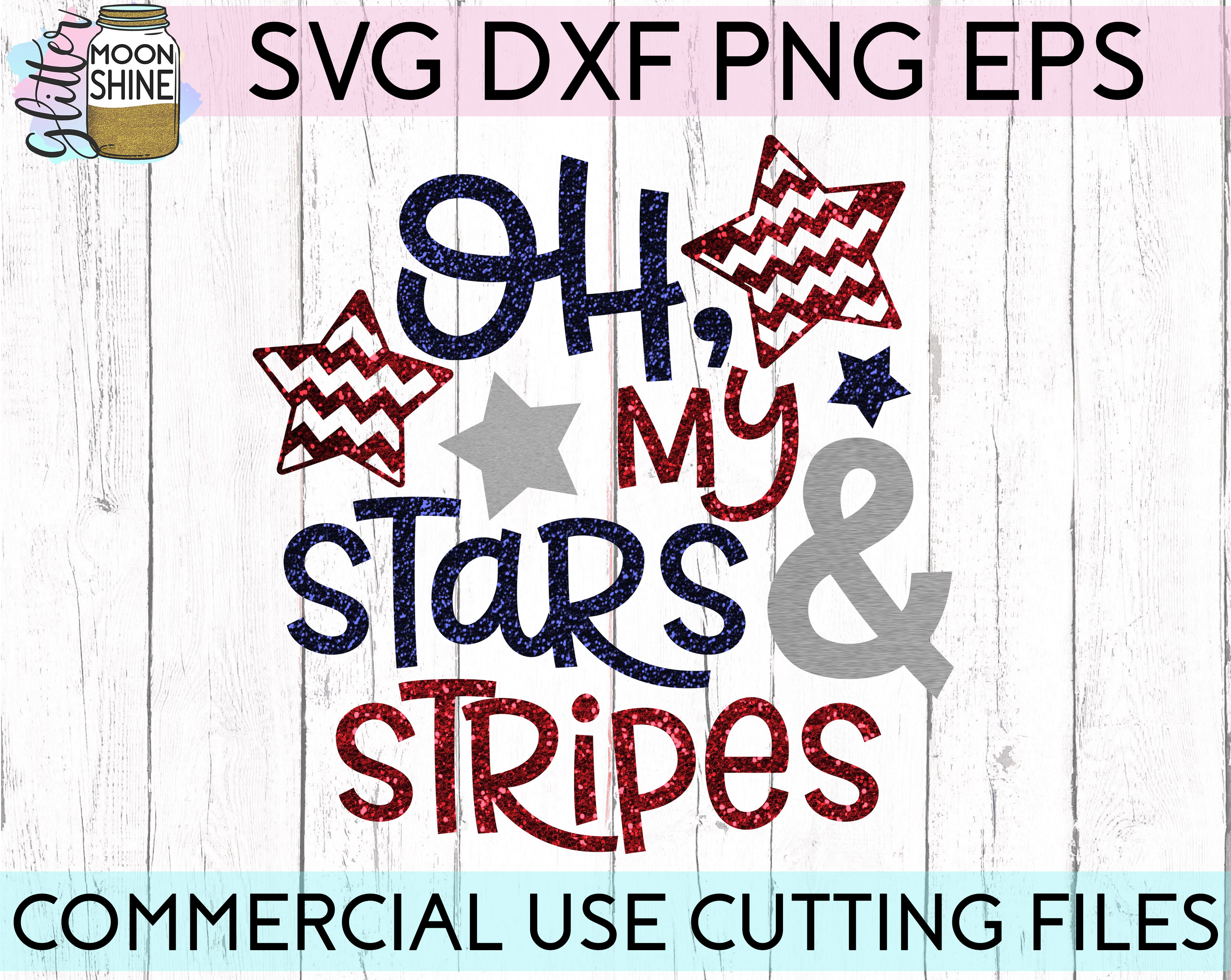 Huge 4th Of July Design Bundle of 23 SVG DXF PNG EPS Cutting Files example image 12