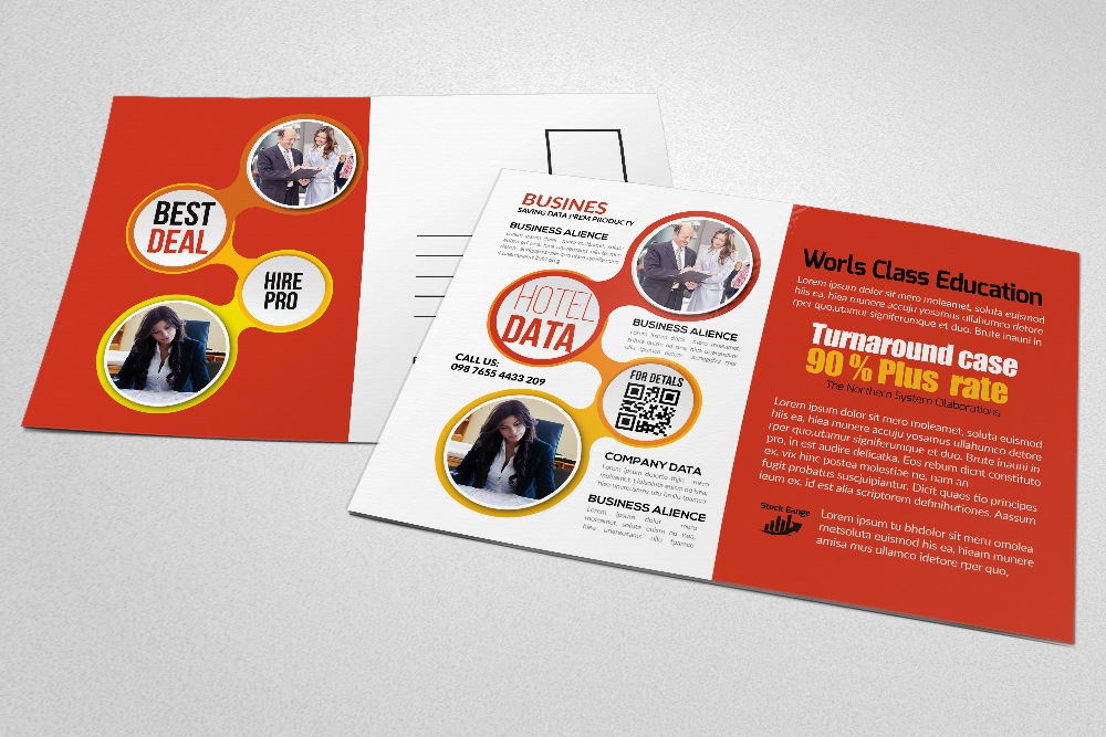 Business Postcards print Template example image 4