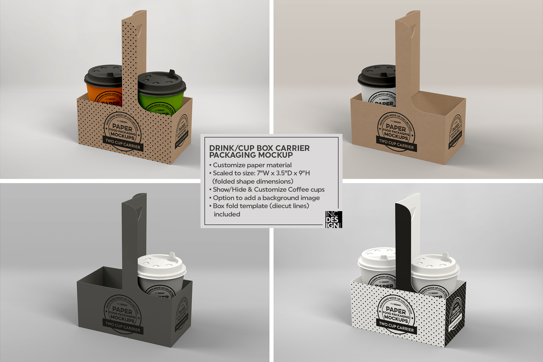 VOL.2 Food Box Packaging MockUps example image 10