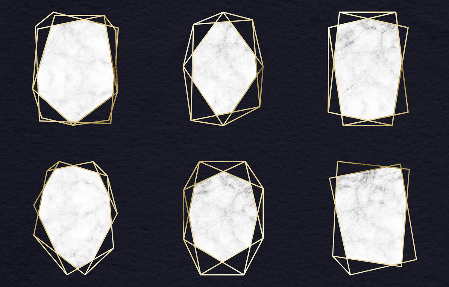 Marble And Gold Frames Clipart example image 2