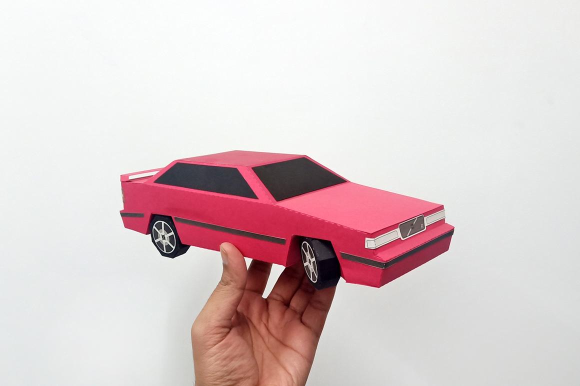 DIY Volvo Car - 3d papercraft example image 1