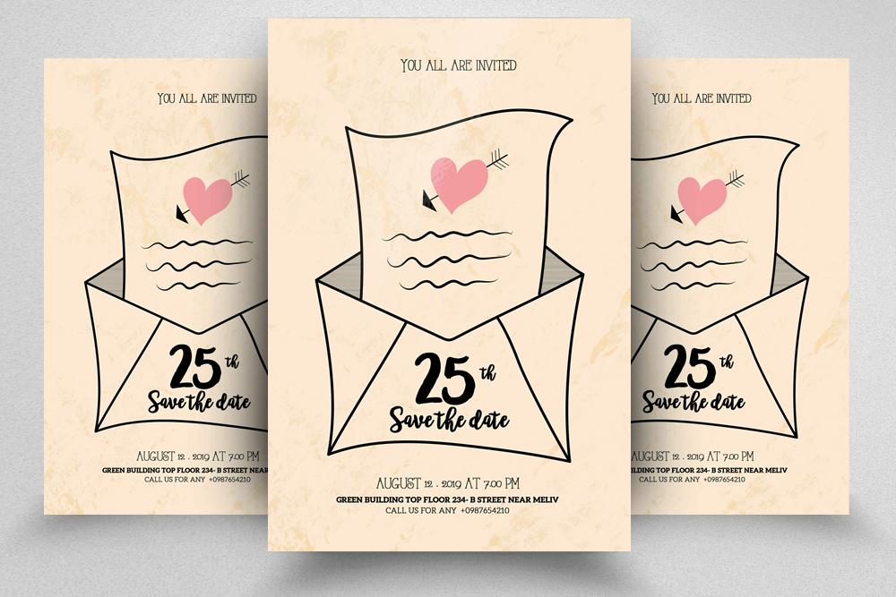 10 Wedding Invitation Flyer Bundle example image 7