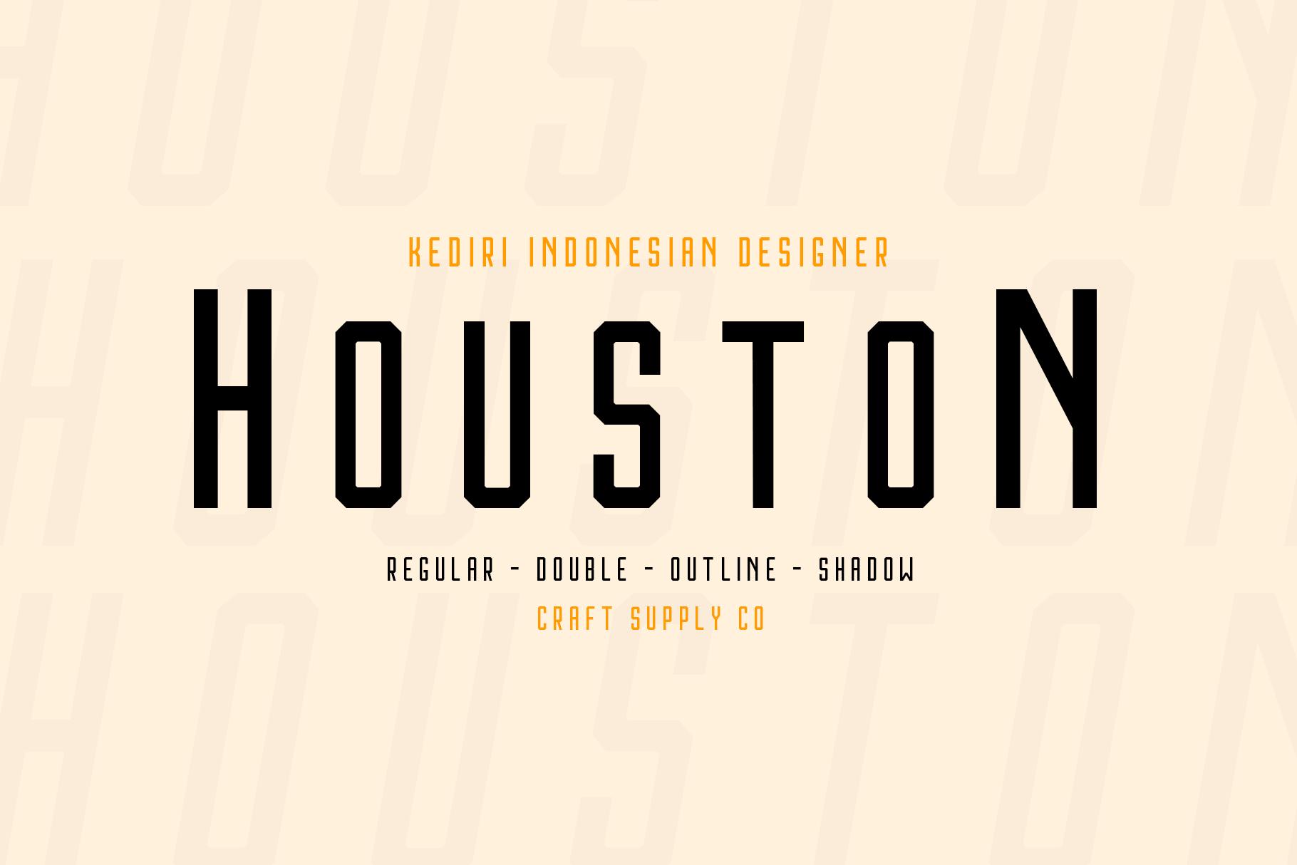 Houston Font Family example image 3