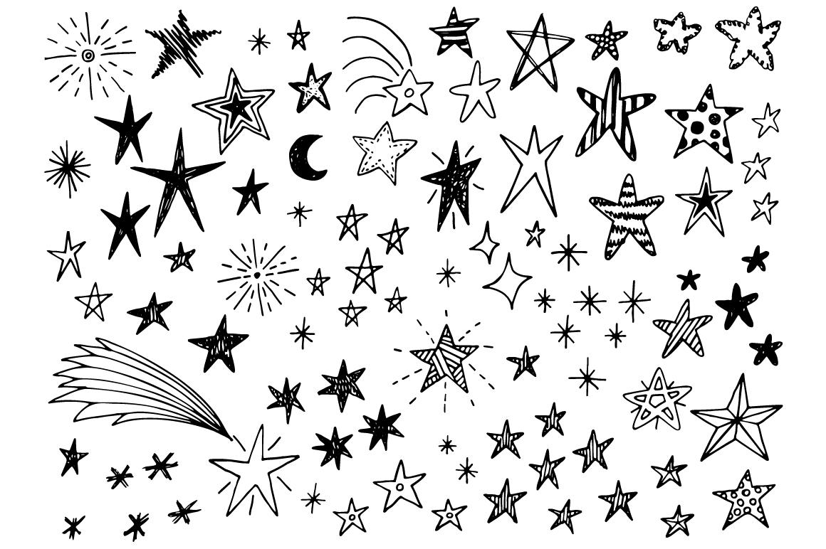 Hand drawn stars + frames example image 2