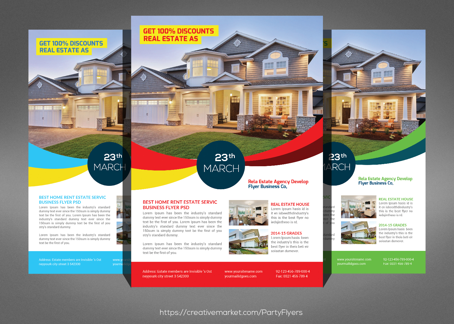 Real Estate Flyer Psd example image 1