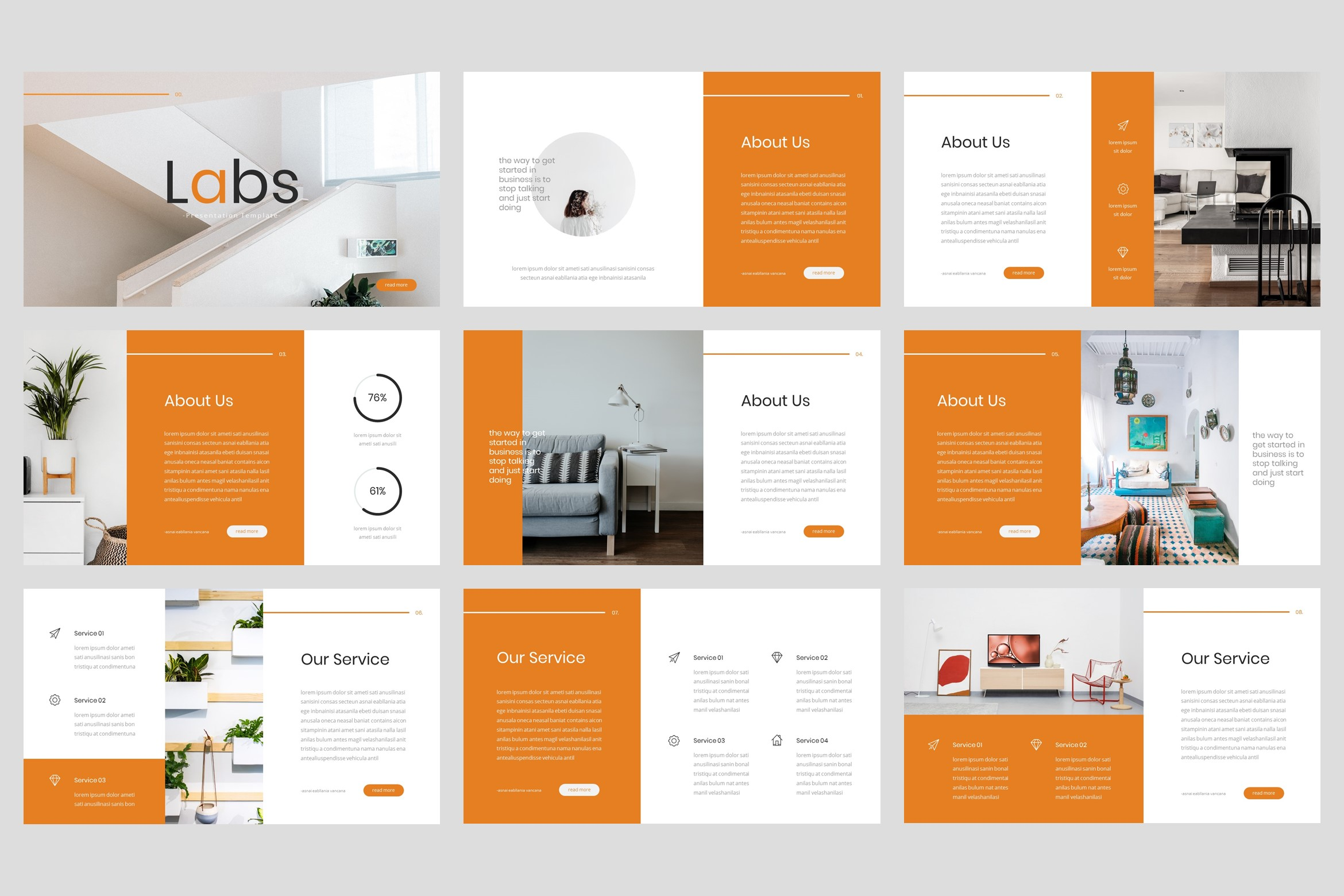 Labs - Creative Google Slides Template example image 2