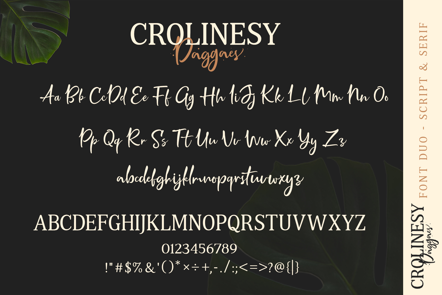 Crolinesy Daggaes Font Duo example image 3