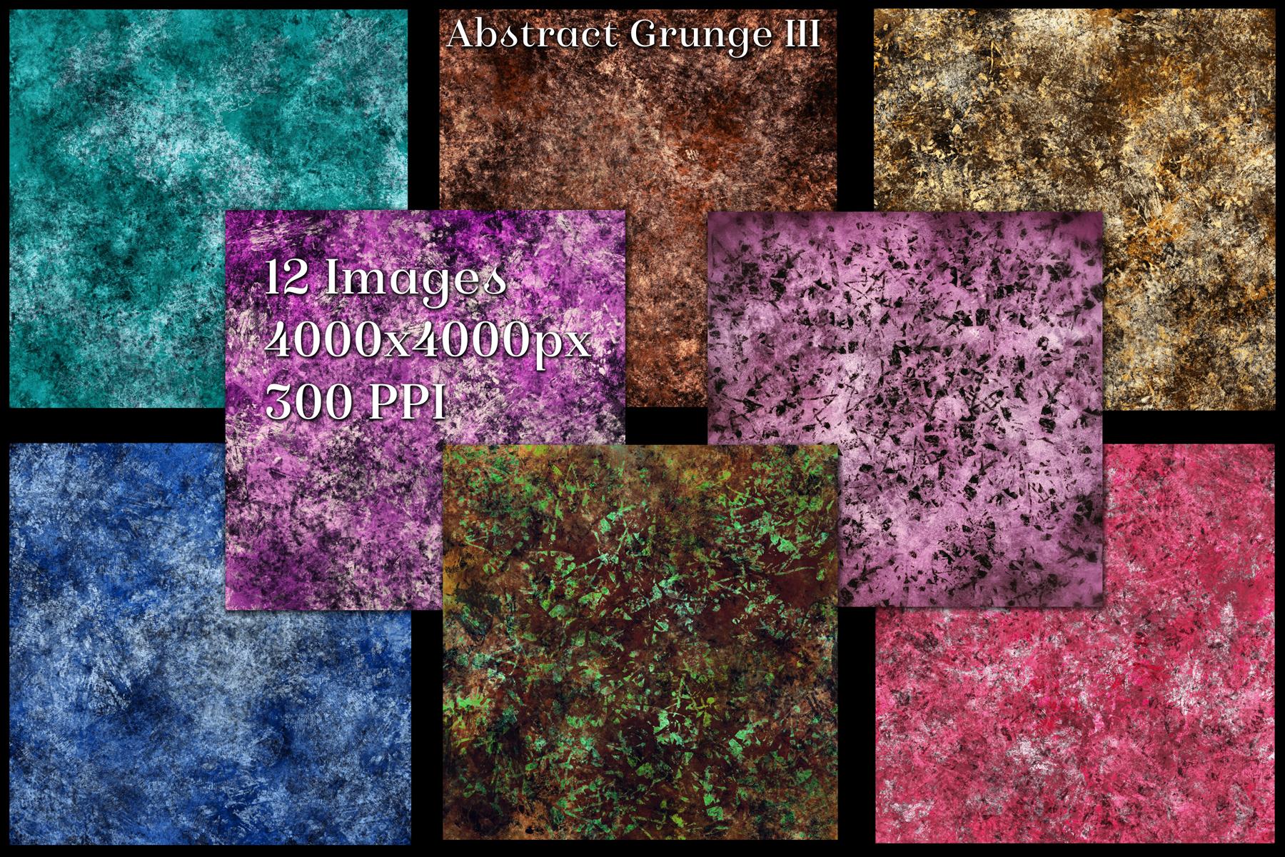 Abstract Grunge III Backgrounds - 12 Image Textures Set example image 2