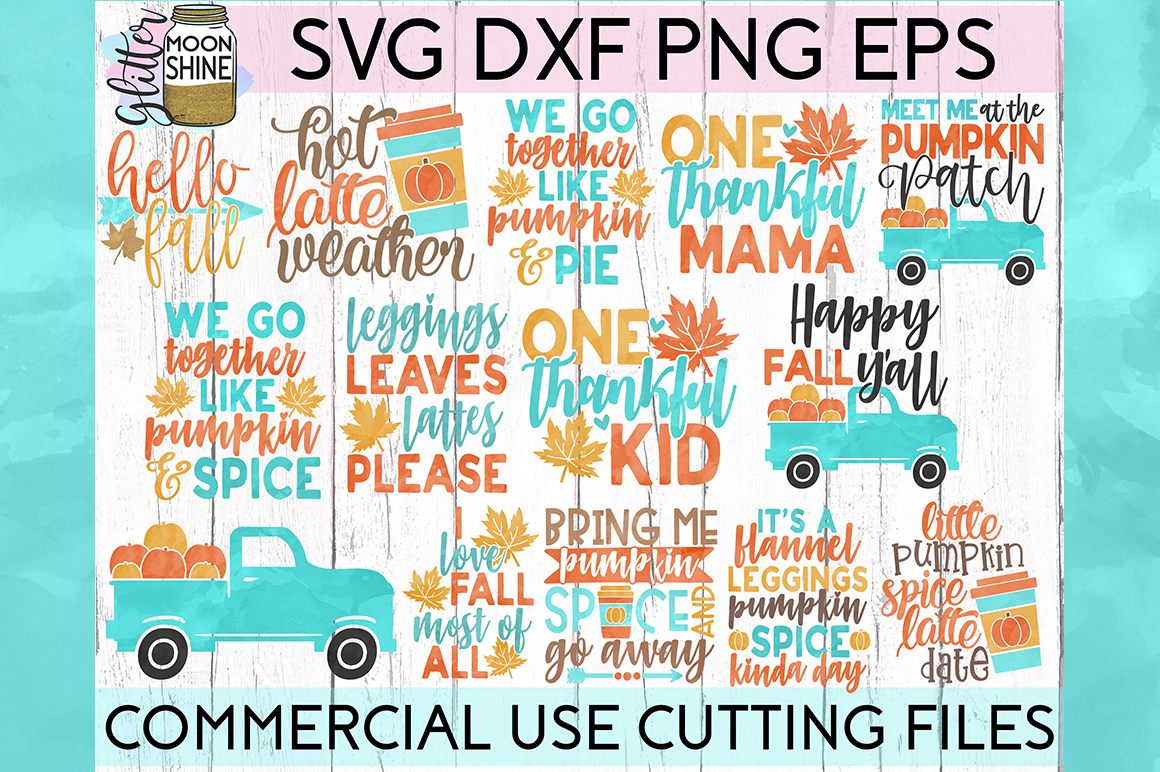 Fall Y'all Bundle of 21 SVG DXF PNG EPS Cutting Files example image 2
