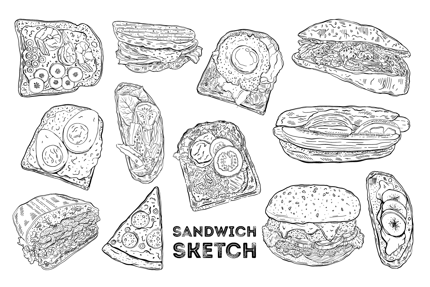 Sandwich set sketch example image 1