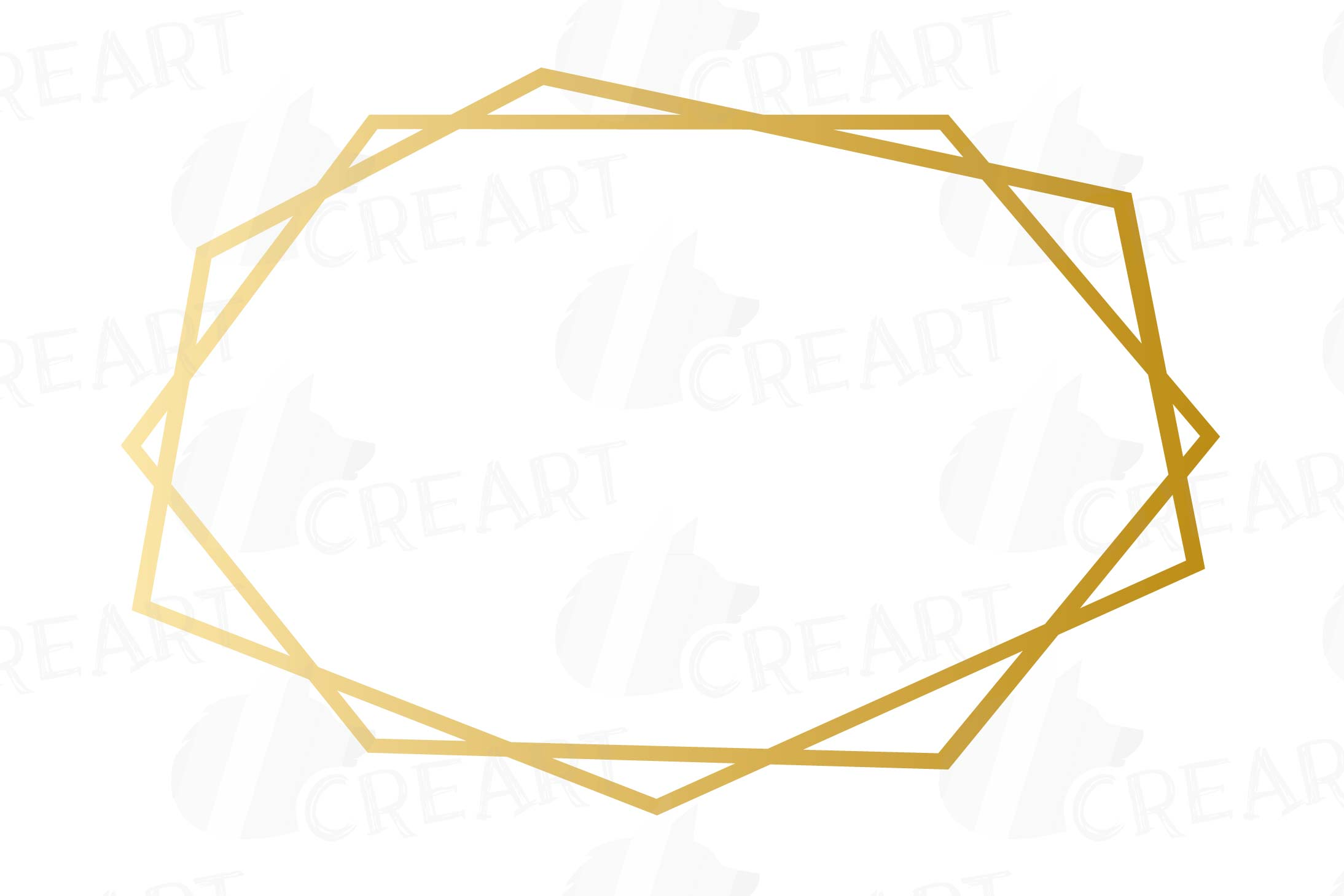 Elegant wedding geometric golden frames, lineal frames png example image 13