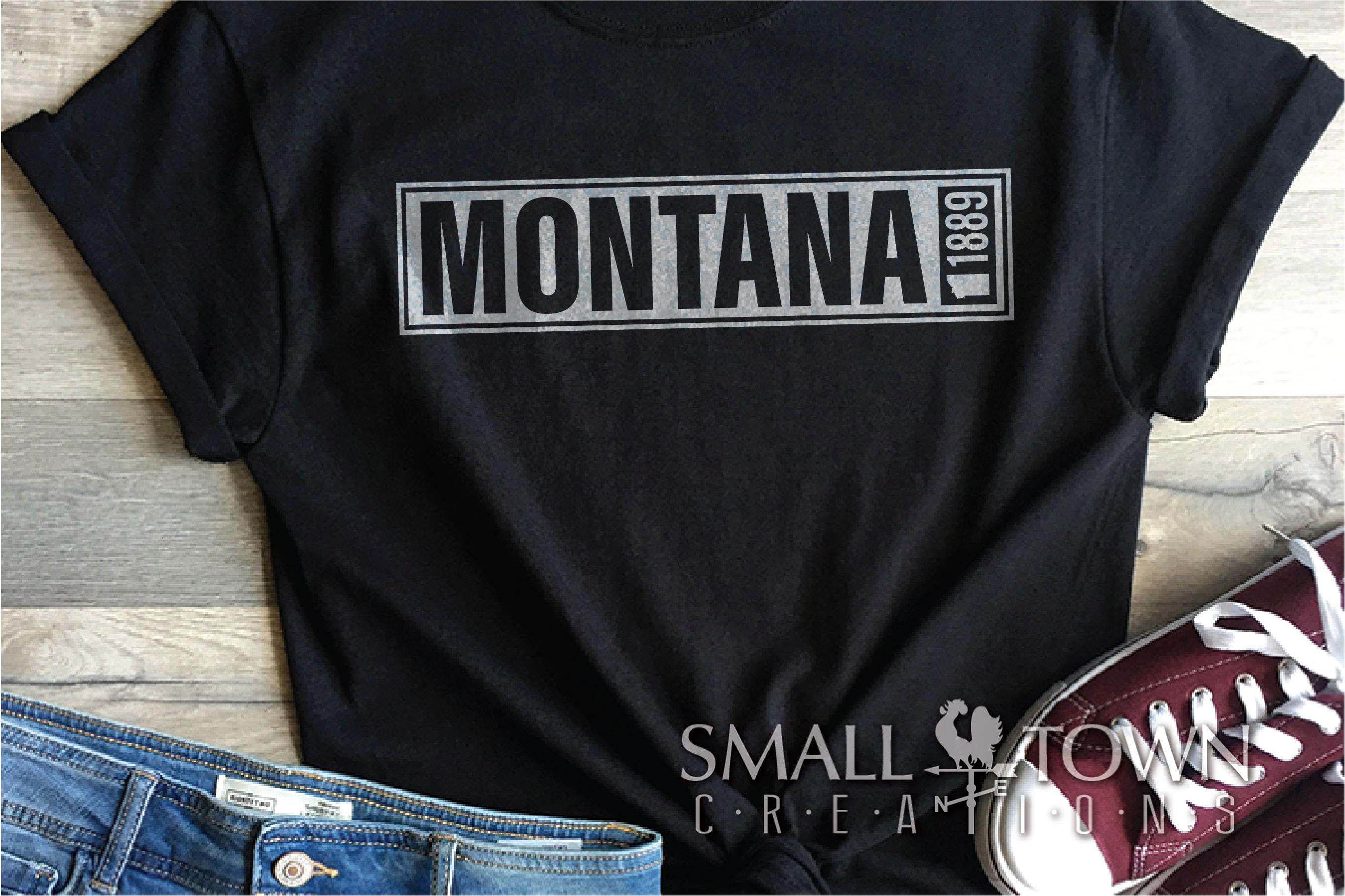 Montana, Big Sky Country - slogan, Logo, PRINT, CUT & DESIGN example image 8