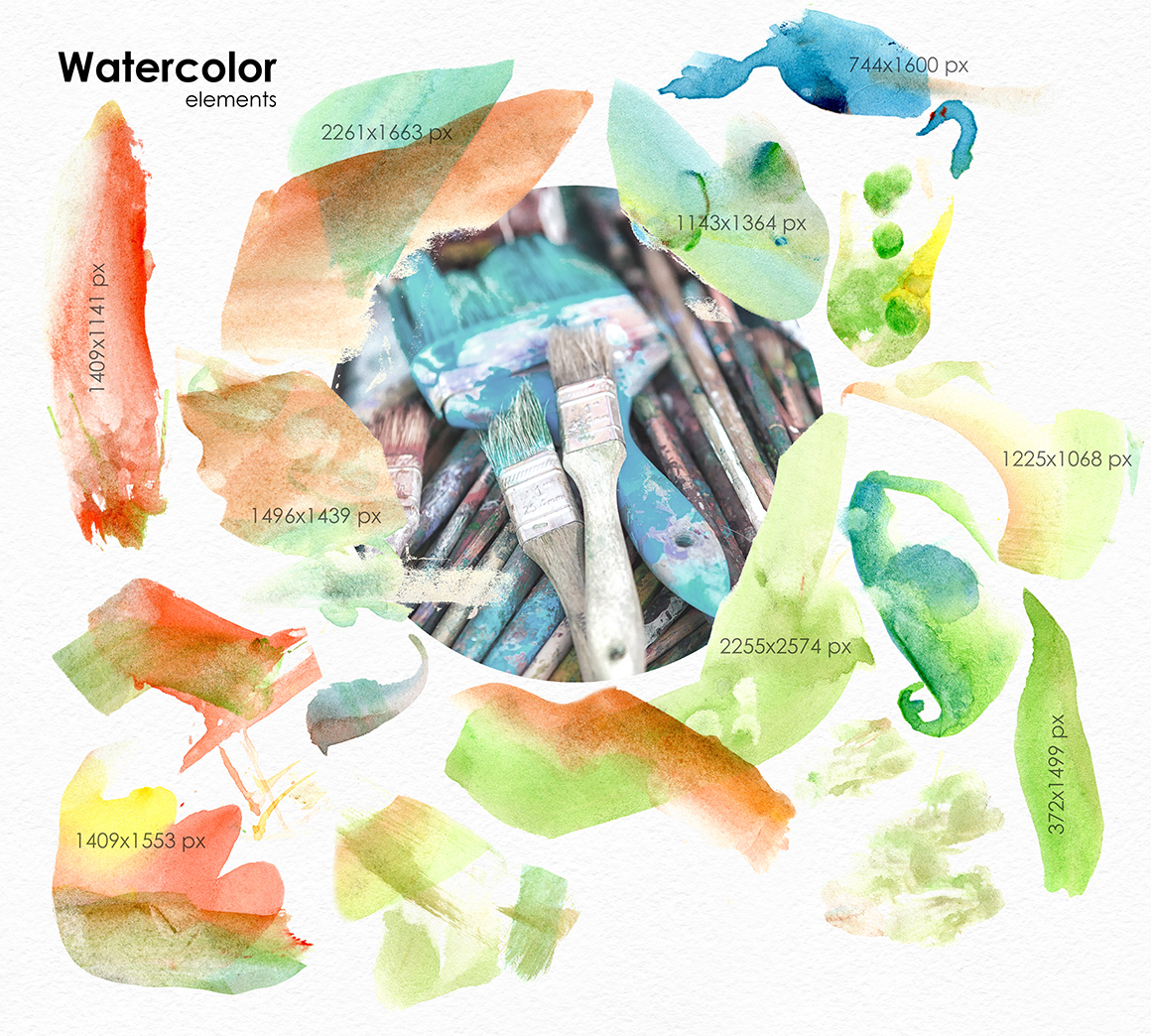 Be an Artist. Watercolor decor kit. example image 9