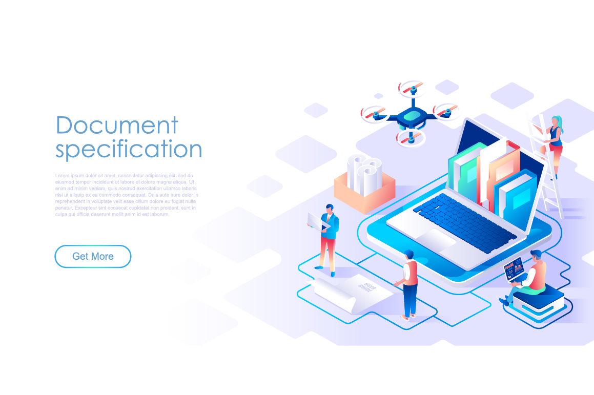 Bundle Isometric Landing Page Template Header example image 15