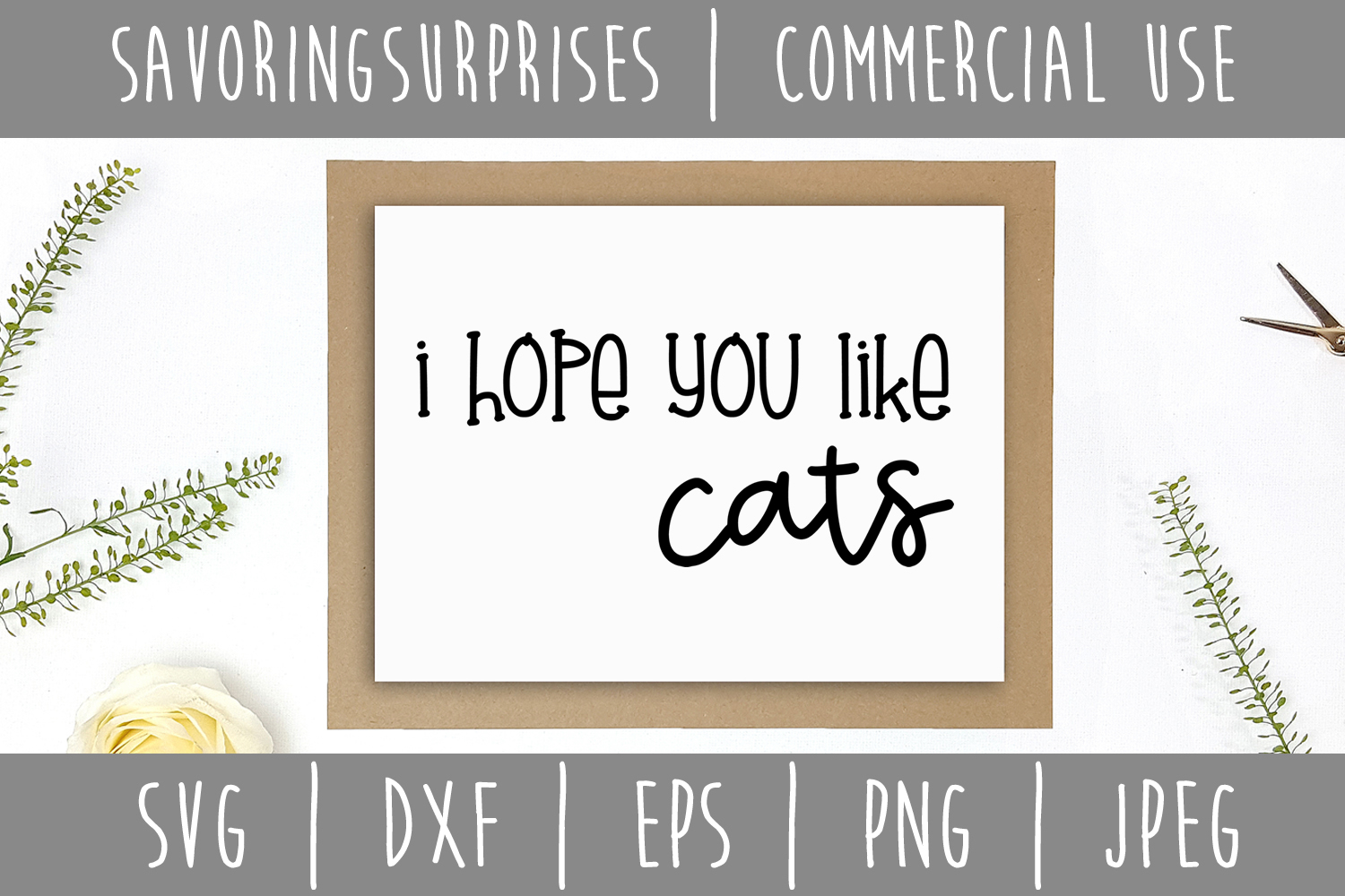 I Hope You Like Cats Doormat SVG, DXF, EPS, PNG JPEG example image 2