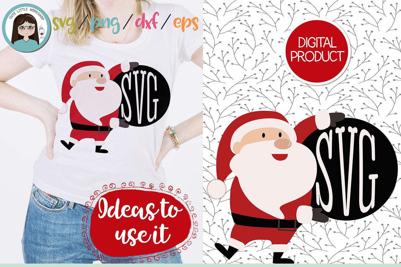 Santa Claus Monogram svg, dxf, png, eps example image 3
