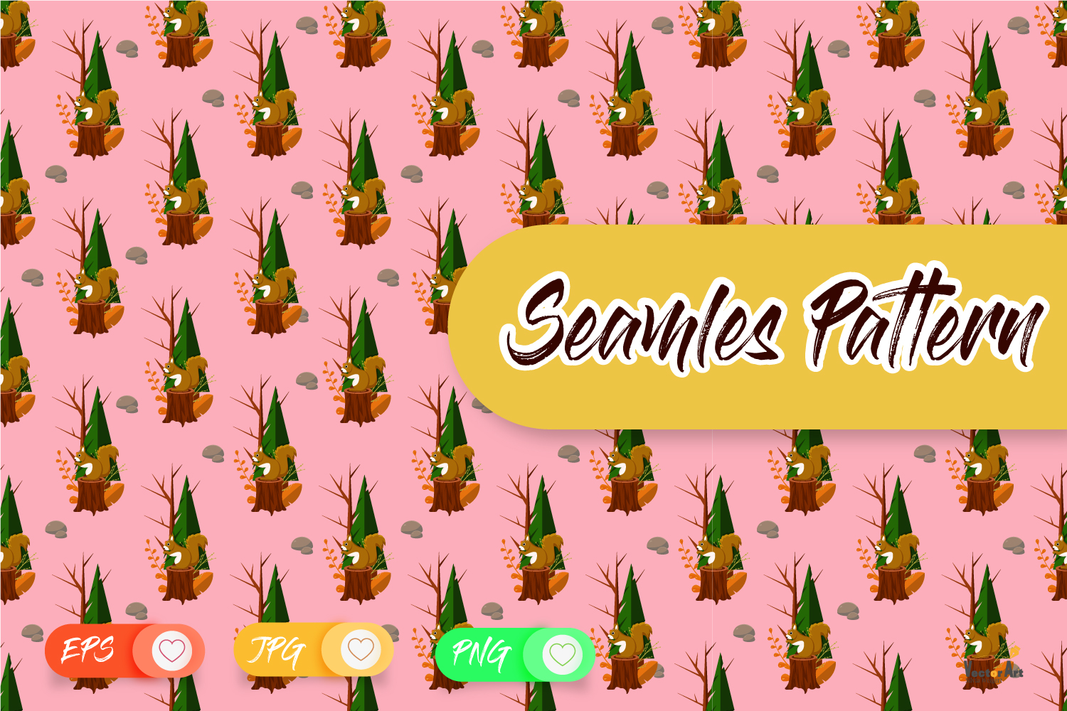 Crafter Set - DigiStamp - Seamless Pattern - Background example image 6