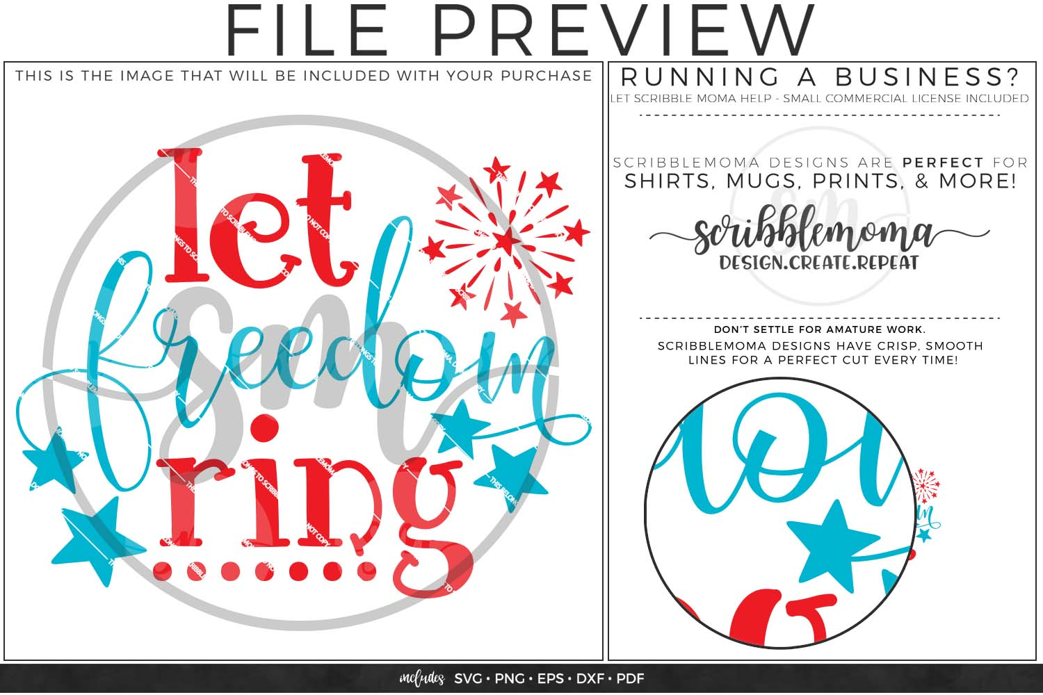 Let Freedom Ring Fourth of July svg example image 2