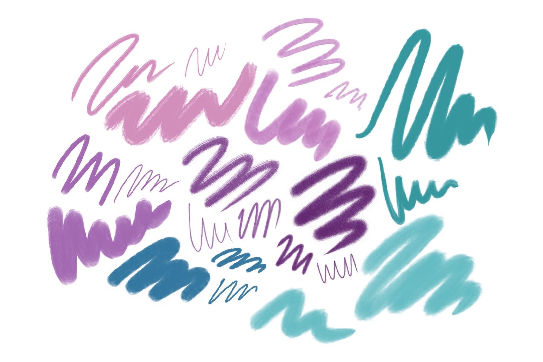 Brushes procreate. Texture paints example image 4