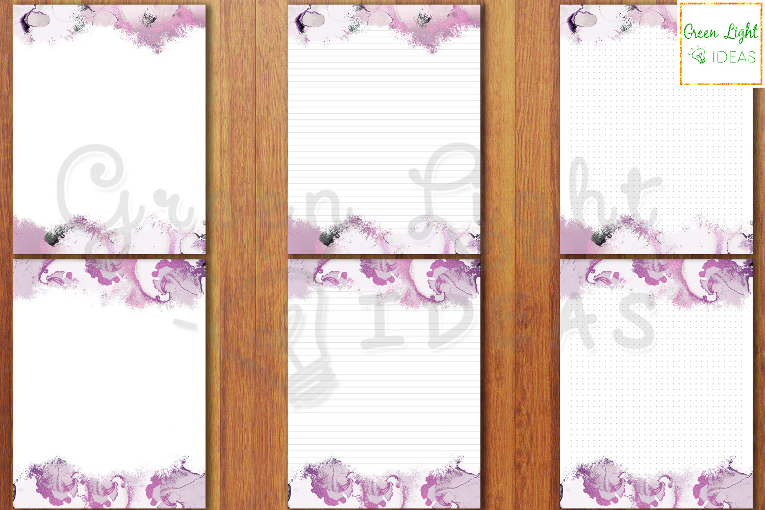 Purple Marble Writing Paper, Printable Stationery Note Paper example image 4