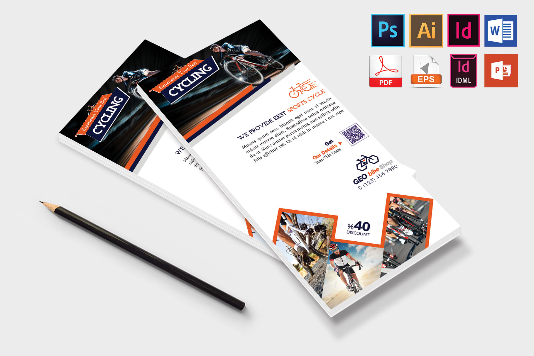 Rack Card | Cycle Shop DL Flyer Vol-01 example image 4