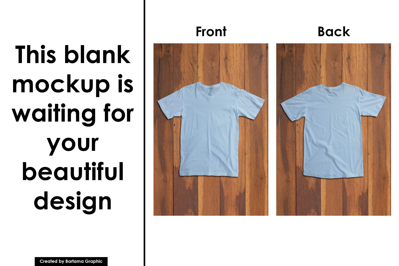 V Neck T-shirt Mockup example image 3