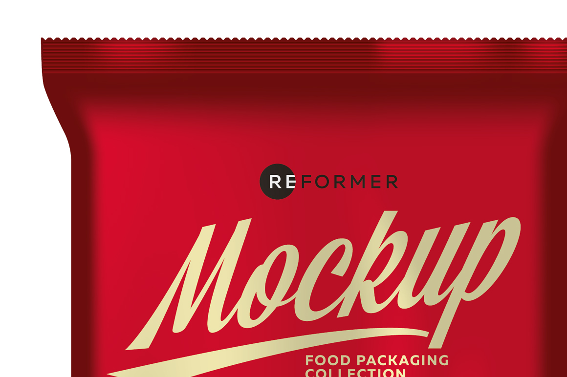 Three Matte Snack Bags Mockup example image 2