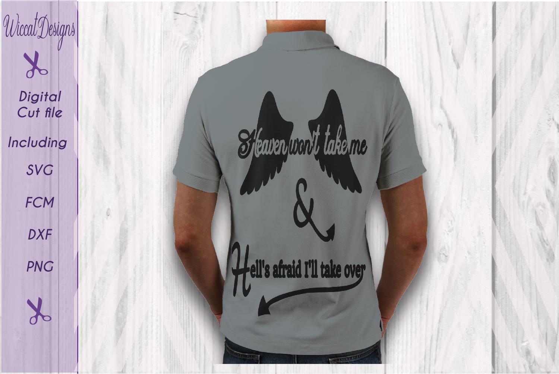 Men svg, quote svg, Funny Quote svg, Devils tail svg, svg for men, man angel svg example image 1
