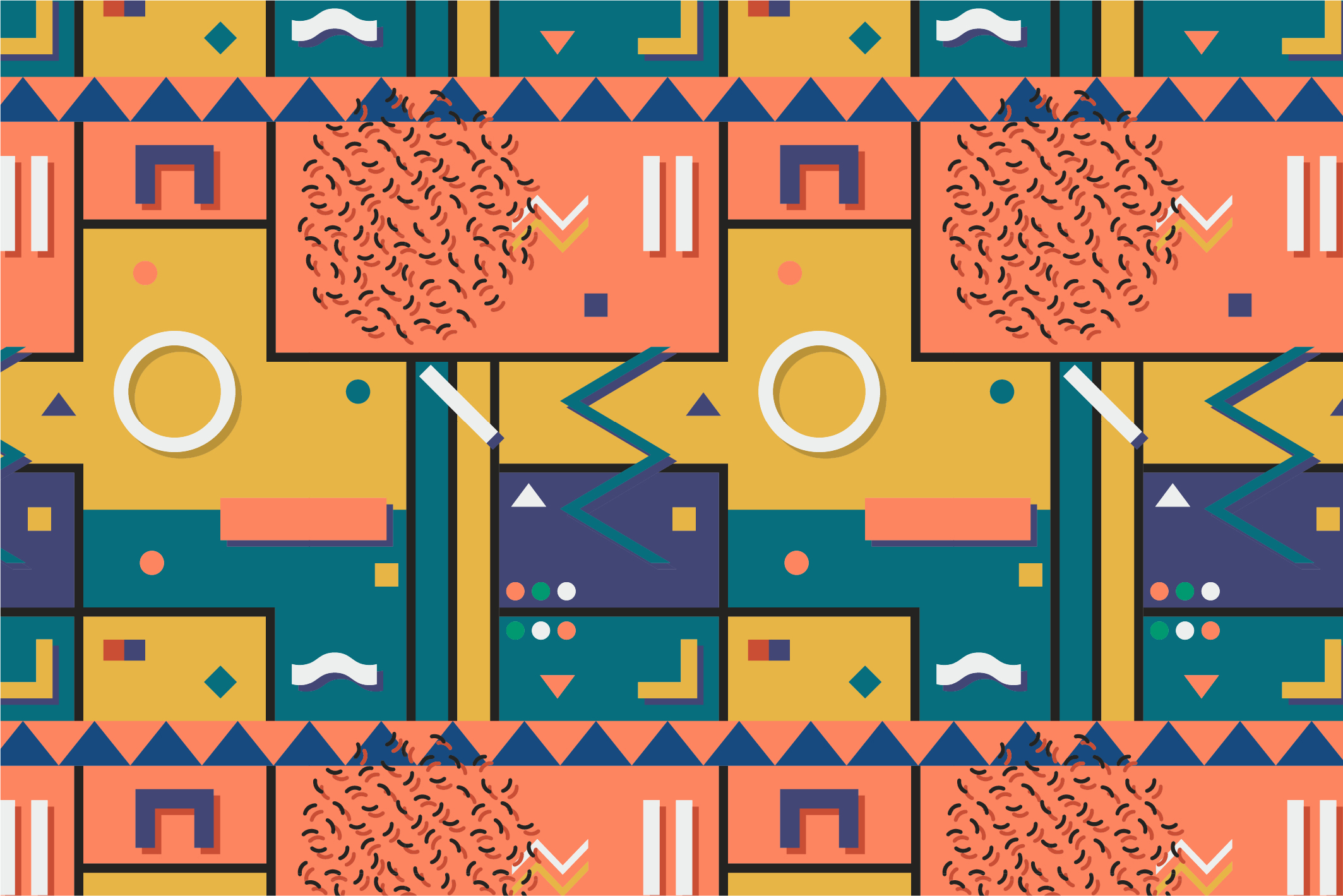 Memphis seamless patterns. example image 2