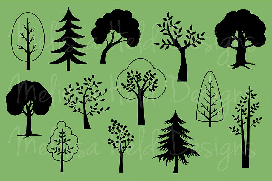 SVG Tree Silhouettes example image 2