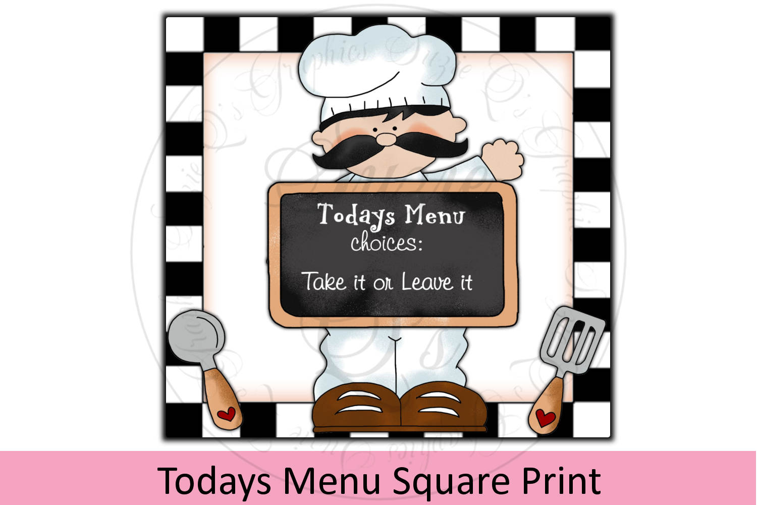 Today's Menu Square Print example image 1